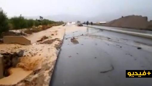 فضيحة.. الأمطار تكشف اختلالات الطريق السريع تازة الحسيمة وتتسبب في انقطاعه لساعات