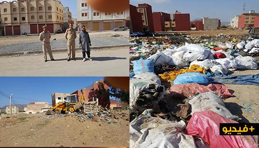 الناظور.. حملة نظافة واسعة ترفع أطنان من النفايات تراكمت بمحيط سوق الجوطية