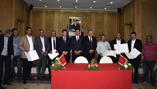 رئيس مجلس جهة الشرق يوقع اتفاقيات شراكة مع تعاونيات الفحم الحجري والمعادن بإقليم جرادة