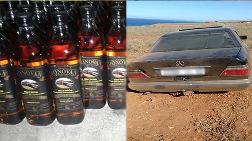 جمارك ميضار تحجز كمية مهمة من المشروبات الكحولية المهربة من مليلية المحتلة