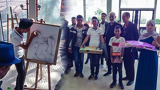 الناظور تفوز بالجائزة الأولى والرابعة لفن الرسم في المعرض الدولي للفرس بالجديدة