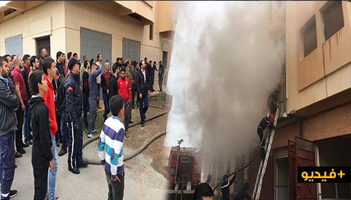 """اندلاع حريق مهول داخل منزل بـ""""إحدادن"""" بالناظور بسبب شاحن هاتف"""