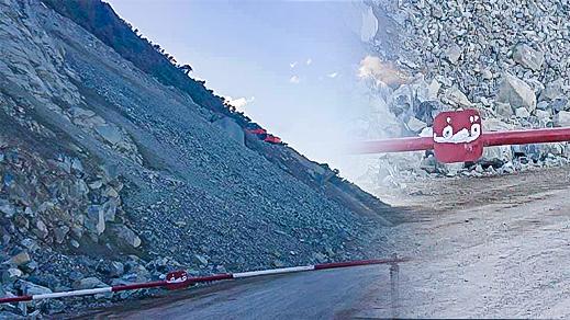 إنقطاعات متتالية للطريق الساحلية بين الحسيمة وتطوان بسبب أشغال الصيانة والإنهيارات الصخرية