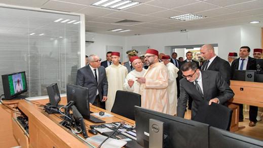 الملك يزور مقر الشركة الوطنية للإذاعة والتلفزة ويطلق برنامج الدروس الحديثية