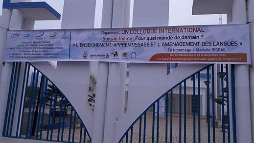 """ندوة دولية حول موضوع """"لأي عالم من الغد؟ التعليم- التعلم و هيكلة اللغات"""" بالكلية المتعددة التخصصات بالناظور"""