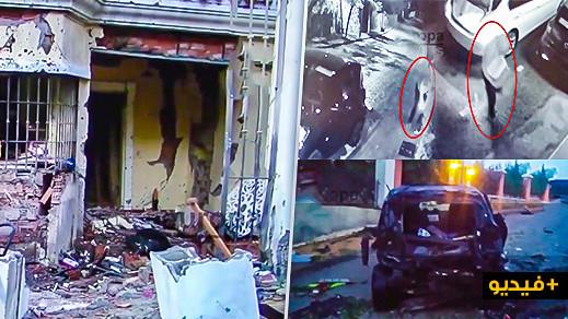 شاهد قتلة مأجورين يفجرون منزلا ومستودعا مملوكين لتاجر مخدرات بإسبانيا والأمن يوقف 3 منهم