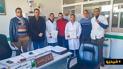 لجنة صحية مدنية تُكرّم الثنائي محمد الهلالي وعادل الكوش بالمستشفى الإقليمي بالناظور