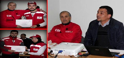 """الدريوش.. الهلال الأحمر يواصل تكوين المنقذين ويطلق الفوج الـ 3 تحت إسم """"فوج الإنسانية"""" والشباب مدعوين للانخراط"""