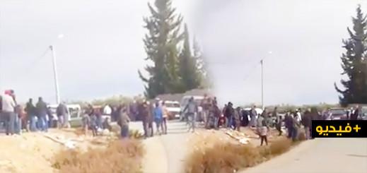 شاهدوا.. تطويق أمني لمكان العثور على جثة الطفلة إخلاص وسط توافد المئات من المواطنين