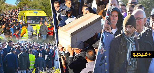 حشود غفيرة تٌشيّع جثمان الصغيرة إخلاص في جنازة مهيبة بمسقط رأسها وسط حزن يخيّم على سماء الريف