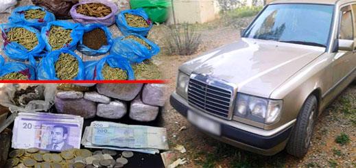 الدريوش.. درك بودينار يعتقل مروج خطير بحوزته كمية مهمة من المخدرات ومبالغ مالية وسيارة مزورة