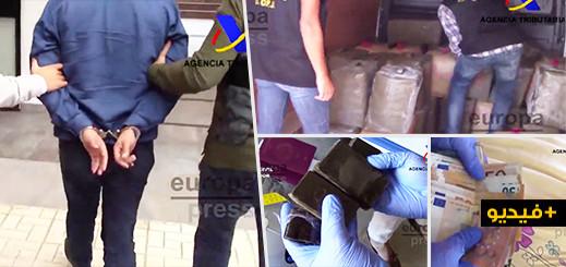 بالفيديو.. اعتقال 14 شخصا وحجز نحو 3.5 طن من المخدرات خلال تفكيك شبكة بمالقا
