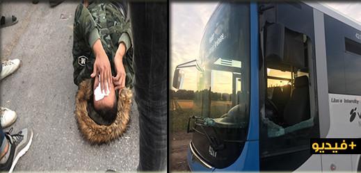 الناظور.. راكب يكسر زجاج حافلة للنقل الحضري ويعتدي على سائقها  بالضرب