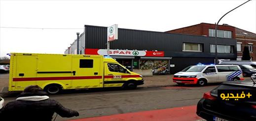 بالفيديو.. مصرع مسلح في حادث  إطلاق نار داخل متجر ببلجيكا