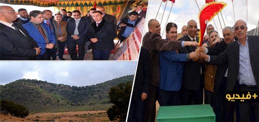 الدريوش.. رشدي والفتاحي يشرفان على إعطاء انطلاقة إنجاز أول منتزه غابوي بالإقليم بجبل توريرين