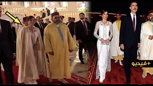 الملك محمد السادس أهدى سلهامه لملكة إسبانيا حين أحست بالبرد