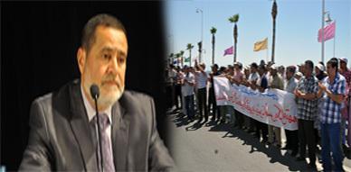 نقابات التعليم بالناظور تواصل احتجاجها دفاعا على أسرة القطاع وعبد المنعم شوقي يؤكد أنه سيحارب الانتهازيين