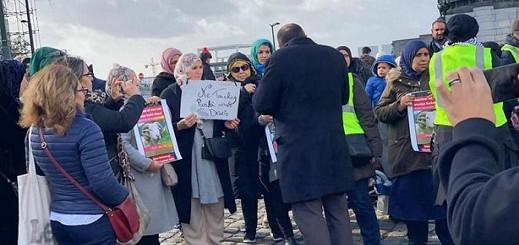 بروكسل.. العشرات من المسلمين يتظاهرون إحتجاجا على حظر الذبح الحلال