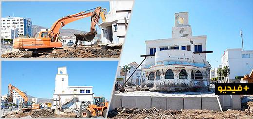 شاهدوا.. تقدم أشغال ترميم البناية التاريخية للنادي البحري بالناظور