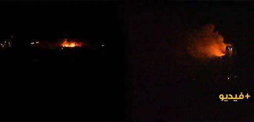 شاهدوا..إندلاع حريق مهول داخل سفينة قادمة من هامبورغ إلى المغرب