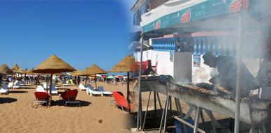 شواطئ الناظور تشهد توافد كبير للمصطافين وصيف رمضان يفتح شهية السباحة ليلا