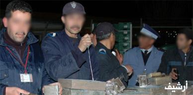 رجال الأمن الوطني والجمارك بميناء الناظور يحجزون 187 كيلوغرام من مخدر الشيرا