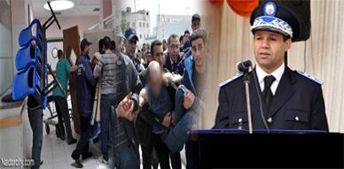 شرطي بالناظور يحتج بخلع الزي الأمني والتجول شبه عاري قبل نقله إلى المستشفى في حالة من الهيستيريا