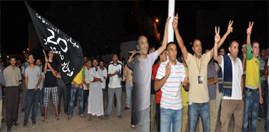 خرجة ليلية لحركة 20 فبراير بساحة مسجد لالة أمينة