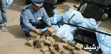 ضبط أزيد من نصف طن من مخدر الشيرا بميناء بني انصار