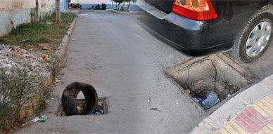 إهمال أشغال بالوعات قنوات الصرف الصحي بالقرب من المقاطعة الأولى بالناظور وراء حوادث مستمرة