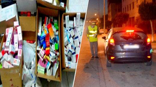 الدريوش.. الدرك الملكي يحجز كمية من الأدوية المهربة على متن سيارة بسد قضائي ويعتقل سائقها
