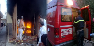 اندلاع حريق مهول بمنزل وسط مدينة زايو يثير الرعب والهلع في صفوف الساكنة