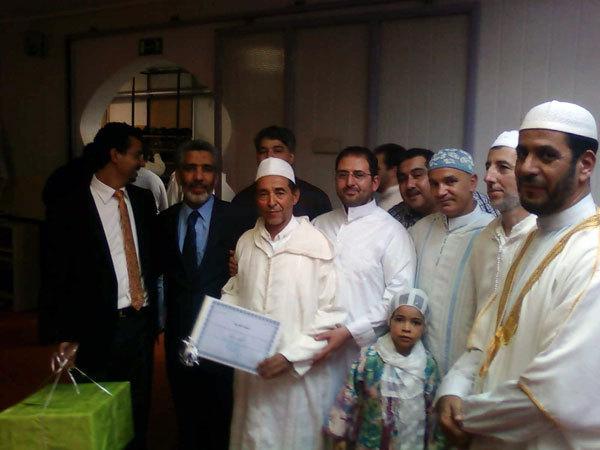 مسجد القدس بفرانكفورت يكرم  الإمام و الفقيه السيد حسن الكروشي يوم عيد الفطر