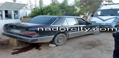 عناصر الأمن بزايو تحاصر سيارة محملة بالوقود المهرب