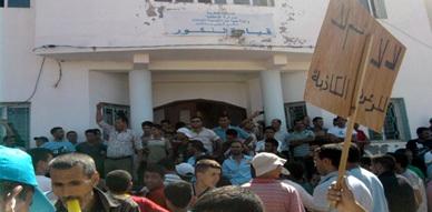 سكان جماعة تفروين ببني بوعياش ينظمون مسيرة احتجاجية صوب مقر قيادة النكور