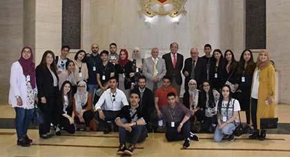 سلامة يستقبل الطلبة المغاربة بكطالونيا بمجلس المستشارين