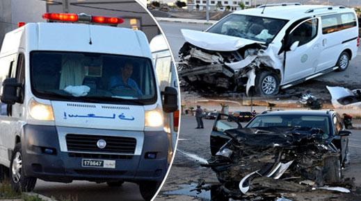 إصابة 9 أشخاص بجروح متفاوتة الخطورة في حادثة سير مروعة وسط مدينة الدريوش