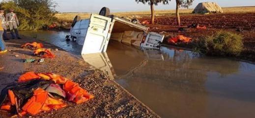 مقتل 16 مهاجرا سريا في حادث ماساوي بين السعيدية و الناظور