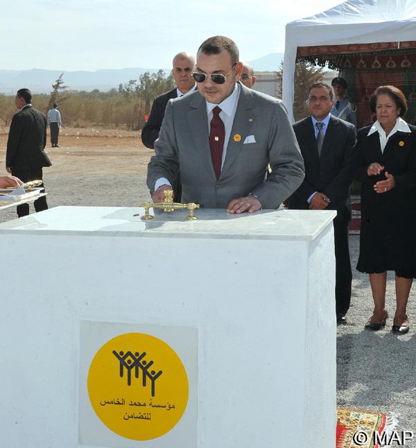 جلالة الملك يضع بزايو الحجر الأساس لبناء مركز لتأهيل وإدماج المرأة بكلفة إجمالية تبلغ 2،2 مليون درهم