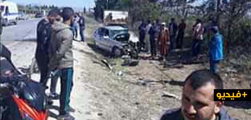 مقتل شخص على الفور وآخر يصارع الموت بقسم الإنعاش إثر اصطدام قوي بين سيارتين نواحي الناظور