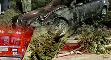 الألطاف الإلهية تحول دون إصابات في رواد كرونيش الناظور بعد ارتطام سيارة بشجرة
