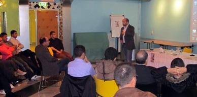 مؤسسة عكاظ بهولندا تنظم لقاءا تواصليا مع الفاعل السياسي أحمد مركوش
