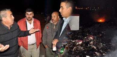 """ساكنة حي الناظور الجديد تصب جام غضبها على شركة """"فيوليا"""" بعد نشوب حريق بأحد مطارح النفايات بالحي"""
