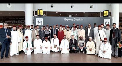 مؤسسة تجمع مسلمي بلجيكا تشرف على توديع وفد البعثة المغربية بمطار بروكسيل