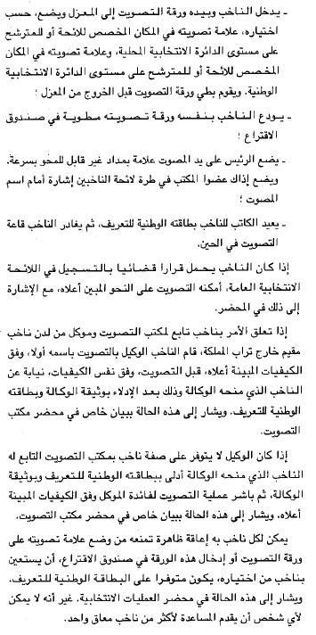 حول تصويت المغاربة المقيمين خارج المملكة