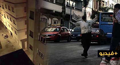 شاهدوا.. مختل عقلي يزرع الرعب في ساكنة أكبر حي شعبي بالناظور والساكنة تطالب بتدخل السلطات
