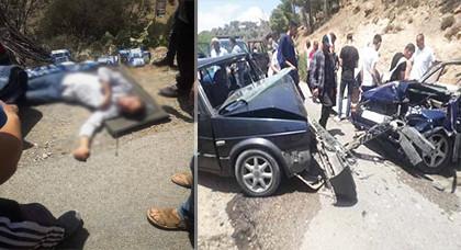إصابة شخصين في حادثة سير  بمنعرجات جبل كوركو