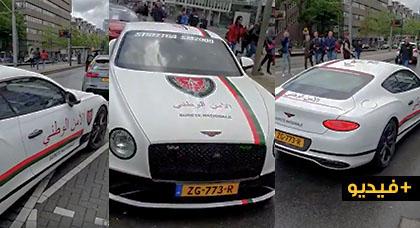 بالفيديو.. مهاجر مغربي بهولندا يصبغ سيارته الفاخرة بألوان سيارات الخدمة الخاصة بالأمن الوطني المغربي
