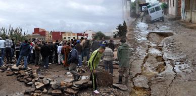 ساكنة حي براقة وعاريض بالناظور يعبرون عن استنكارهم إزاء لامبالاة المسؤولين عقب الفيضانات التي اجتاحت المنطقة
