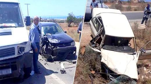 الناظور.. إصابة ثلاثة أشخاص في حادثة سير مروعة قرب قرية أركمان